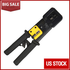 EZ-RJ45 Crimper Tool Cat5e Cat6 Connector Crimping Tool End Pass Through RJ11//12