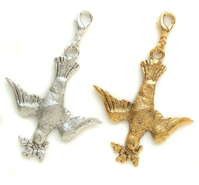 John Wind Charms for Bracelet Peace Dove Gold Silver London Maximal Art Jewelry