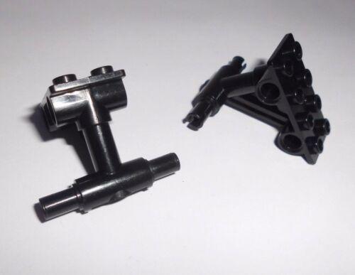2 Flugzeug-Achsen 2x4 42608 Lego in schwarz aus 4615 4618