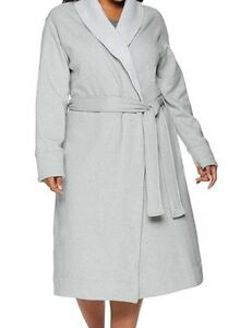 0f779ffc6c Details about NEW WOMENS PLUS SIZE 1X SEAL HEATHER GREY UGG DUFFIELD II  FLEECE WRAP ROBE