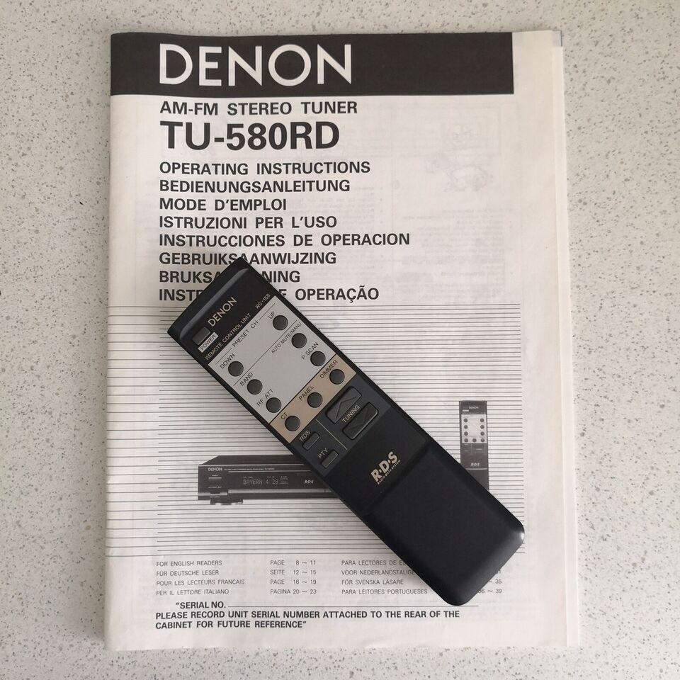 Tuner, Denon, TU-580RD