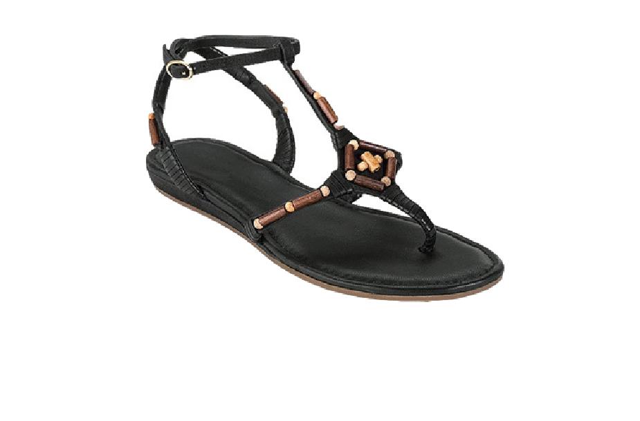 Cole Haan Women's Black Leather Leather Leather Air Larissa Sandals 8144 Sz 8.5 B 05c7f5