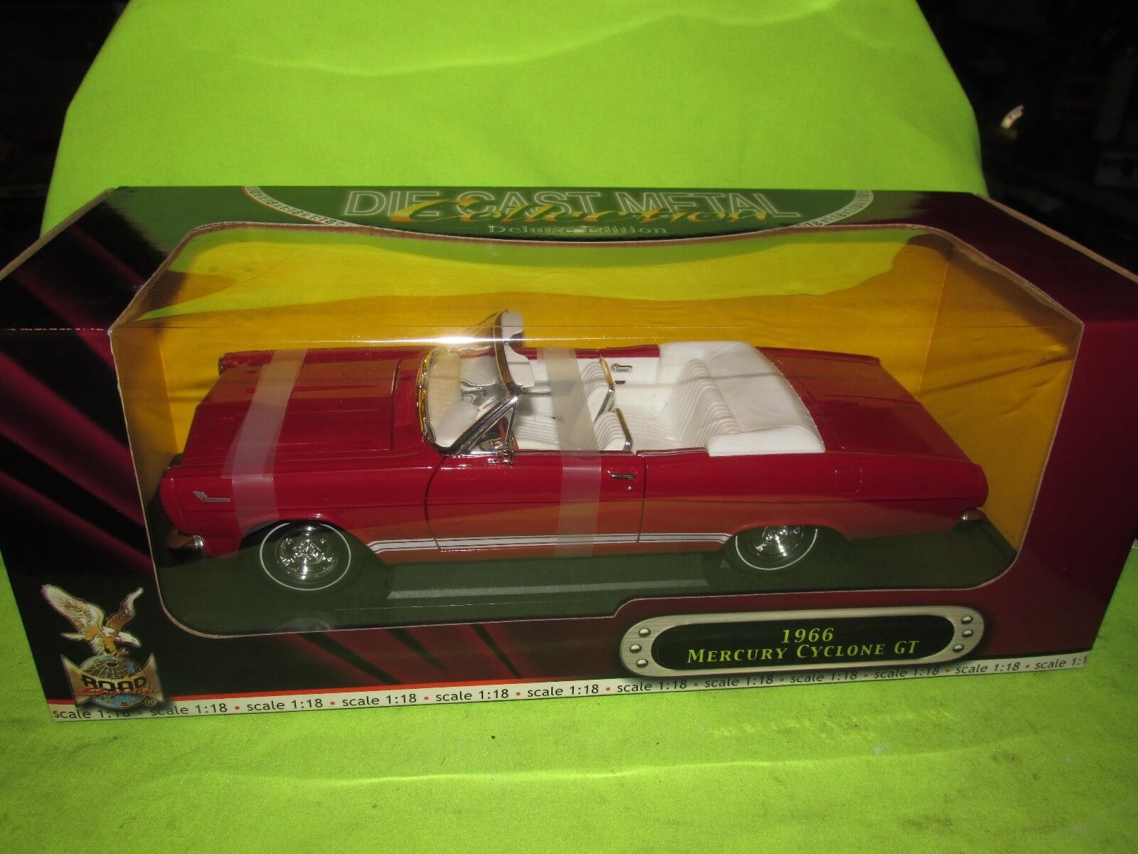 66 MERCURY CYCLONE GT 1964 1 18 rosso Yat Ming Road Signature Deluxe