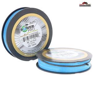 (2) Des Microfilaments Tressé Ligne De Pêche 65 Lb (environ 29.48 Kg) 150yds Bleu ~ Neuf-afficher Le Titre D'origine Utilisation Durable