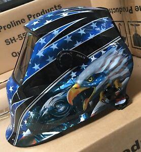 AEW700 Auto Darkening Welding Helmet Mask 4 sensors,DIN 9 to 13