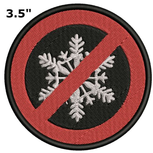 Liberal Anti-Snowflake Political Humor Embroidered Patch Iron Sew-on Applique