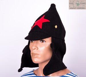 f965156f1de Russian Soviet budenovka winter wool hat size 60-62 USSR Red Army ...