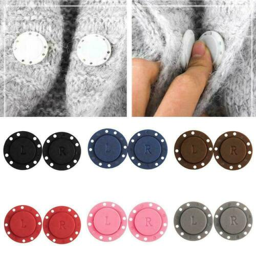 1Pair Invisible Magnetic Round Snap Fasteners Button Handbag DIY Purse Z0E1