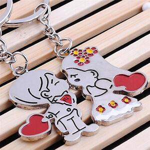Novelty Items Casual Couple Love Keychain Cartoon Key Chain Lovers Key RingN_GAS