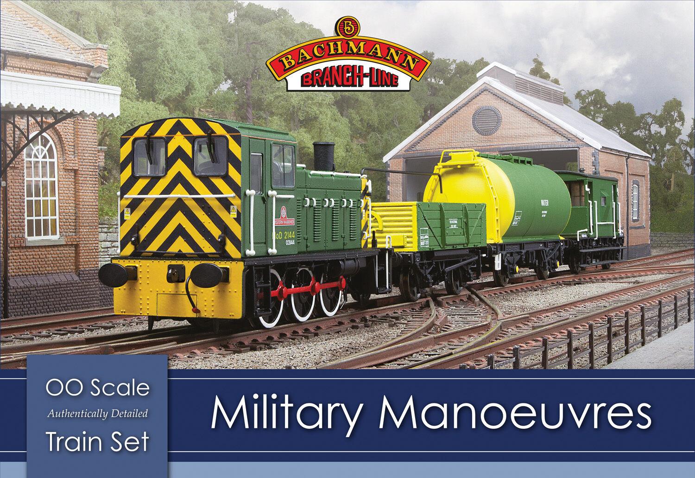 Bachmann 30 -130 Militär Manoures OO  1 76 skala Train Set (Hornby Compatible)