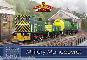 Bachmann-30-130-Military-Manoeuvres-OO-1-76-Scale-Train-Set-Hornby-Compatible