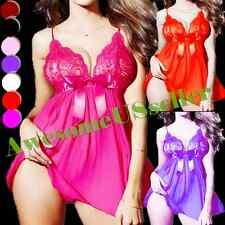 M-3XL PLUS SIZE Sexy Sleepwear Nightgown Lace Babydoll Lace Robes Lingerie#372