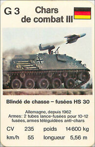 Schutzenpanzer-HS-30-GERMANY-PANZER-TANK-PLAYING-CARD-CARTE-A-JOUER