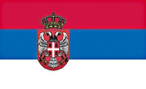 Serbien mit Wappen Fahne Fahnen Flagge WM 1,50x0,90m