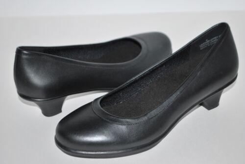 NEW NWT CROCS GRACE HEEL 4 5 6 6.5 7 7.5 8 8.5 9.5 10 BLACK LEATHER heels shoes