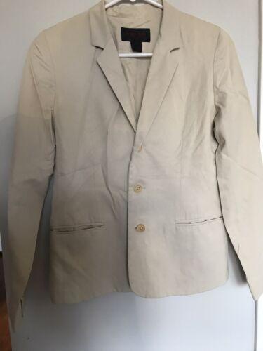Jacket 4 Ivory Suit Lauren Cream M Button Blazer Ralph xT7PAqw1T