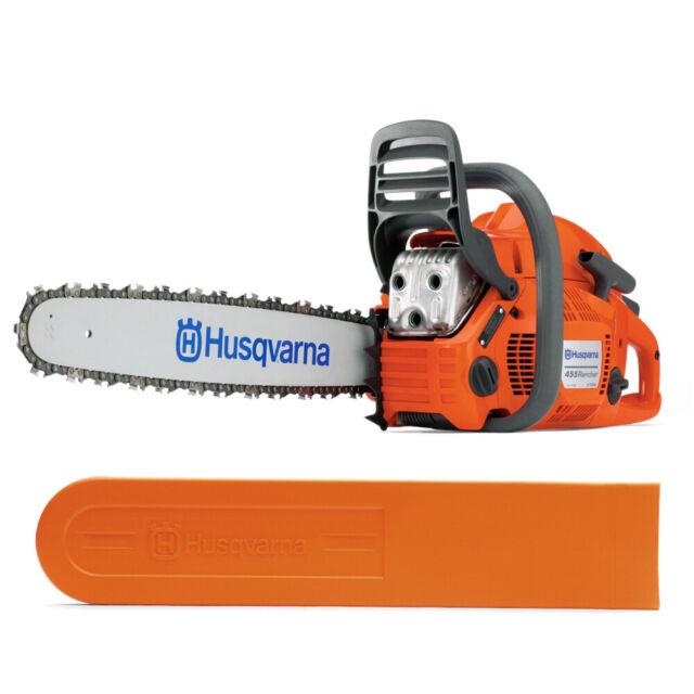 "Husqvarna 455 Rancher Gas Powered Chainsaw 55.5cc 20"" Bar 3/8 .050 Gauge"