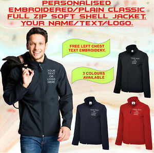 Personalised-Embroidered-Classic-Full-Zip-Soft-Shell-Jacket-Unisex-Waterproof