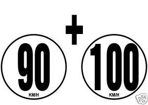 lot-2-Limitations-de-Vitesse-Autocars-Tracteur-Poids-lourd-90-100-KM-H-adhesif