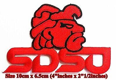 "SDSU SAN DIEGO STATE AZTECS VINTAGE EMBROIDERED IRON ON PATCH  3.25/"" X 2.5/"""