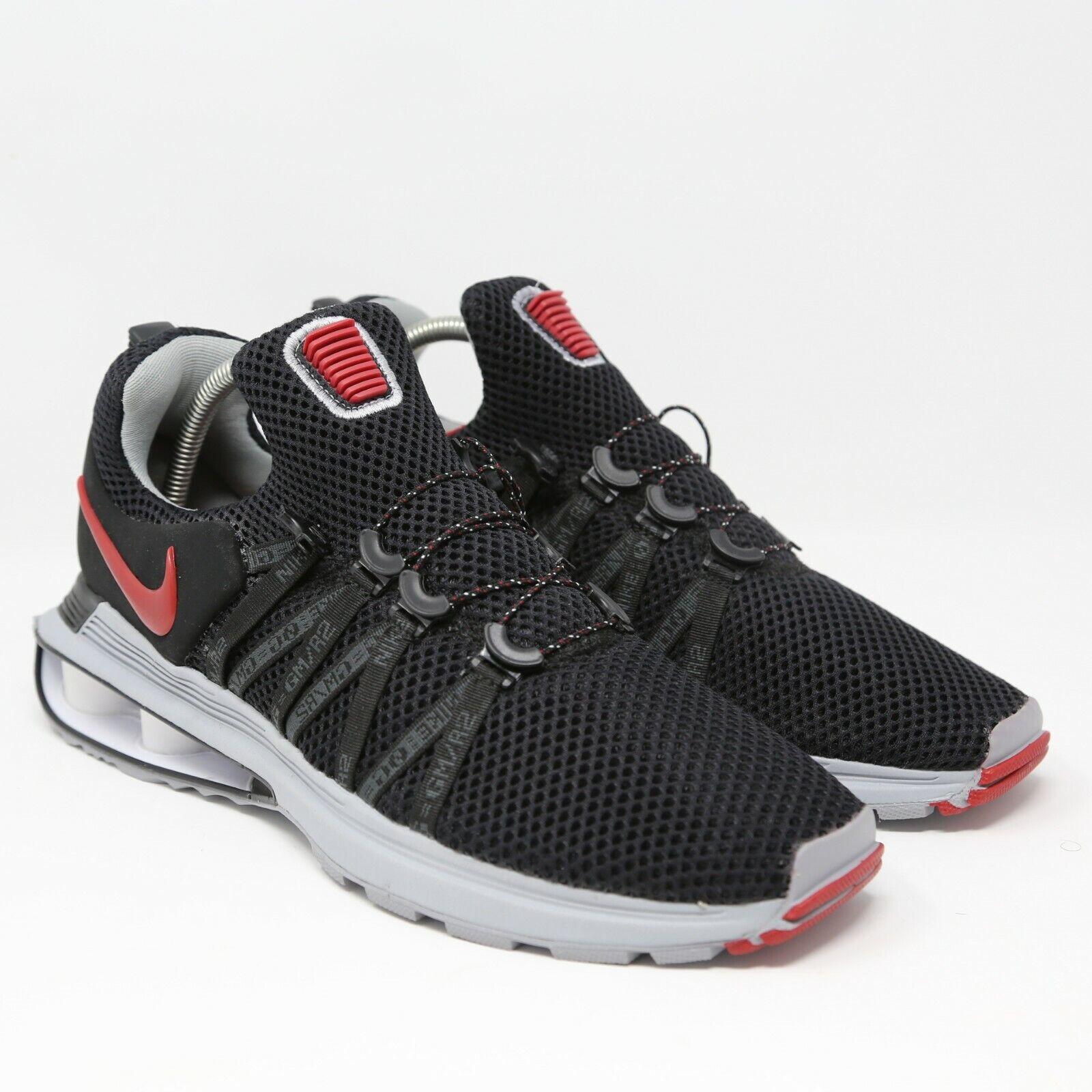 Nike Shox gravedad Negro Rojo universitario criado En ejecución Tamaño 10 AR1999-016 EUR 44 UK 9
