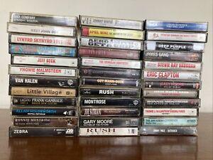 Lot Of 36 Cassette Tapes. Rock, Heavy Metal & Guitar Gods.