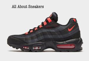 Nike-Air-Max-95-034-Negro-Naranja-laser-034-Hombre-Zapatillas-Stock-Limitado-Todas-Las-Tallas