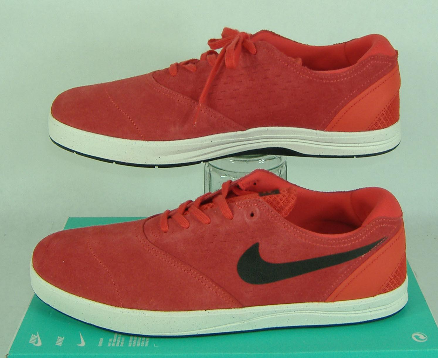 Nuova Uomo 13 nike sb koston 2 rosso di pelle di camoscio scarpe da skateboard 90 580418-603