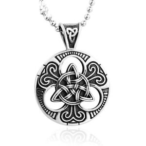 Stainless steel titanium celtic carved trinity knot triquetra image is loading stainless steel titanium celtic carved trinity knot triquetra mozeypictures Image collections