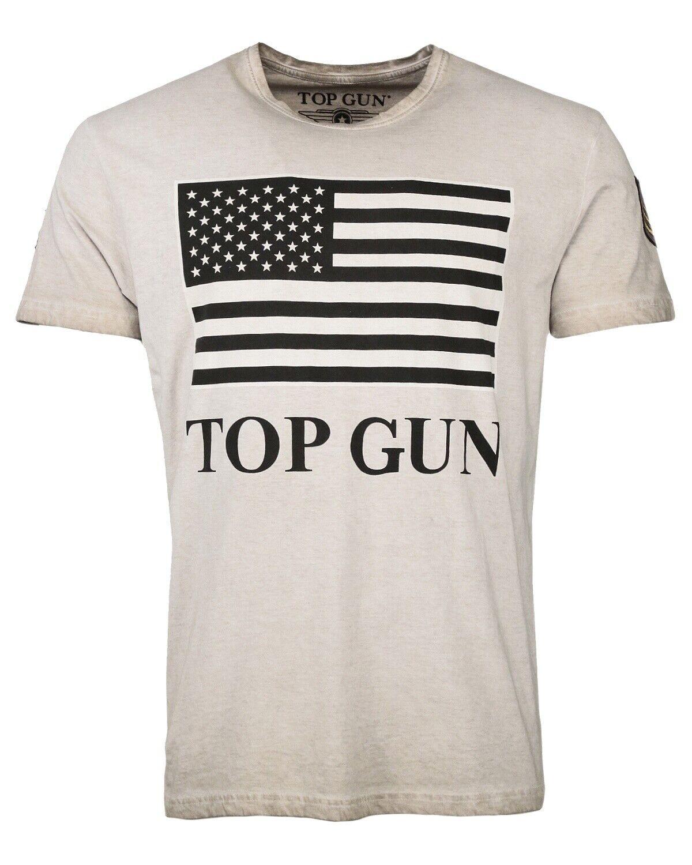 Top Gun SEARCH Dark Beige T-Shirts