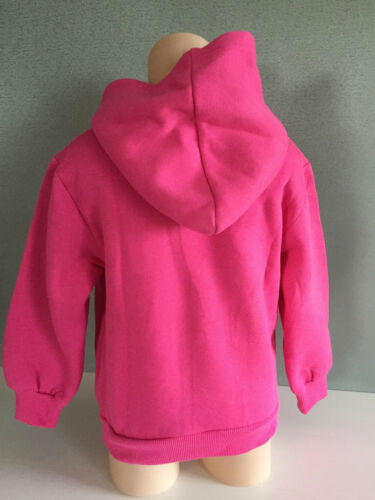 BNWT Girl/'s Sz 4 Very Pretty Hot Pink Long Sleeve Windcheater Style Hoodie Top