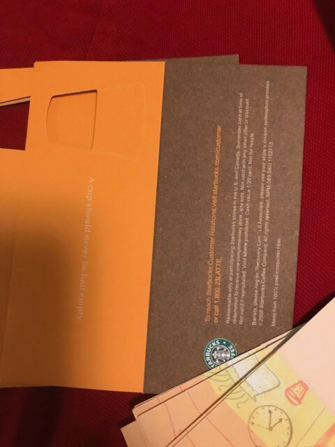 10 STARBUCKS Recovery Drink Card Voucher FREE Any Size Drink Gift NO Expiration!