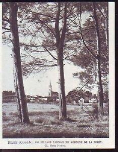 1948 -- BELIET GIRONDE S887 - France - 1948 -- BELIET GIRONDE S887 il ne s'agit pas d'une carte postale , mais d'un beau document paru dans la rare la france, en 1948 le document GARANTI D'EPOQUE est en tres bon état et présenté sur carton d'encadrement format 135 X 110 mm FRAIS D  - France