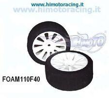 FOAM110F40 COPPIA RUOTE ANTERIORI ON ROAD HIMOTO 1/10 GOMME IN SPUGNA Rim &Tire