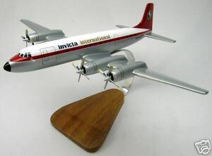 Invicta-Bristol-Britannia-Airplane-Desktop-Wood-Model-Big-New