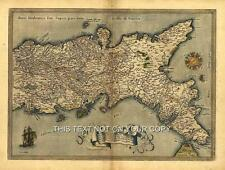 Neapolitan Naples Italy Italia Sardinia Sicily & Corsica Colour Antique Old Map