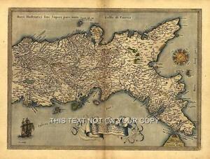 Neapolitan-Naples-Italy-Italia-Sardinia-Sicily-Corsica-Colour-Antique-Old-Map
