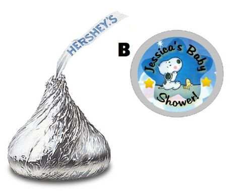 108 BABY SNOOPY HERSHEY KISS KISSES LABELS STICKERS BABY SHOWER PARTY FAVORS