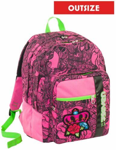 Rosa inserti rifrangenti Zaino scuola Outsize SEVEN 33 LT ROSES GIRL