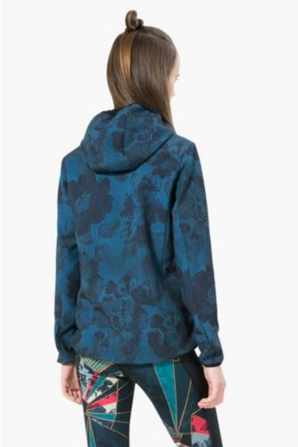 CHAQ /_ Soft Shell Dark Denim Légion Blue Desigual Sport Veste Capuche