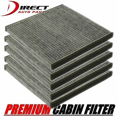 5 PACK C35549 CABIN AIR FILTER Premium Charcoal/Odors ExactFit TOYOTA