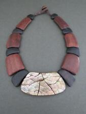 Vintage Danish Modernist Teak Necklace Mid Century