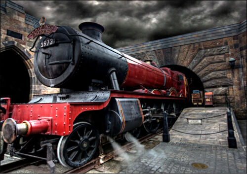 A1 - A5 SIZES HARRY POTTER MOVIE HOGWARTS EXPRESS TRAIN GLOSSY WALL ART POSTER