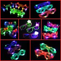 LED GLASSES, LIGHT UP, GLOWING,PARTY AND CLUB GLASSES IN DIFFERENT SHAPES AND CO