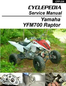 Cyclepedia Yamaha Yfm 700 Raptor Atv Printed Service Manual Ebay