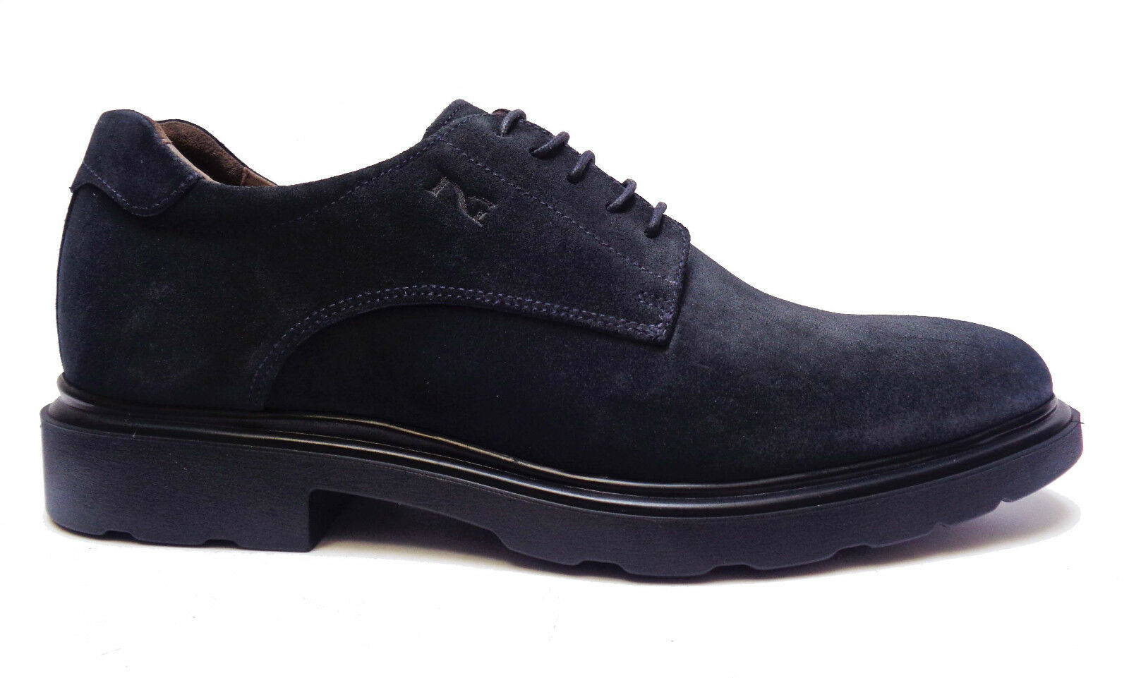 chaussures DA hommes noir GIARDINI chaussures BASSE CASUAL STRINGATE IN CAMOSCIO bleu