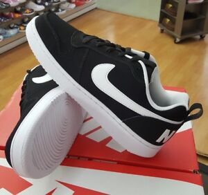 size 40 52a9b af41f Image is loading NIKE-COURT-BOROUGH-LOW-838937-010-BLACK-WHITE-