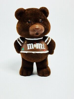 M/&M/'s Flocked Teddy Bears Chocolate Chums Peanut Plain Figurines Collectible Vtg
