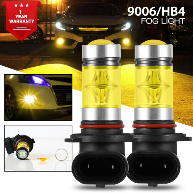 2x 9006 HB4 LED Fog Light Bulb 3000K For Acura MDX 2006