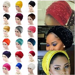 Velvet Stretch Long Black Head Wrap African Hair Head Scarf Tie ... 19a469f2f08